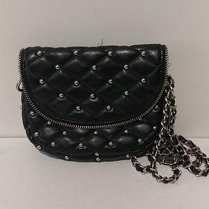 ♥️black silver dot crossbody bag